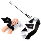 Fifty Shades of Grey Blindfold, Wrist Tie and Crop Set