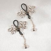 Sylvie Monthule Women's Silver Brandebourgs Knot Non-Piercing Nipple Rings