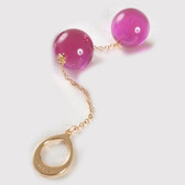 Sylvie Monthule Gold Loop with Violet Insertable Double Geisha Balls