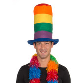 Forum Novelties Rainbow Tall Hat