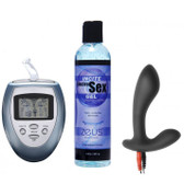 Zeus Electrosex Essentials 3-Piece Prostate Stimulation EStim Kit for Him