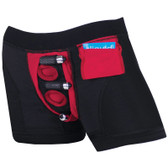SpareParts Tomboi Boxer Briefs Strap-On Harness Black & Red
