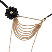Sylvie Monthule Women's Gold Strings of Love G-String with Flower & Drape Chains