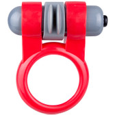 Screaming O Sport Vibrating Silicone Rotating Super-Flex Erection Ring Red