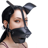 Master Series Pup Puppy Play Hood & Breathable Ball Gag