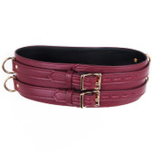StockRoom JT Signature Collection Brown Leather Locking Waist Cuff with Gold Hardware