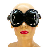 Axovus Black Ultimate PVC Blindfold with Neoprene Lining