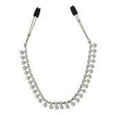 Sportsheets Midnight White Pearl Chain Nipple Clips
