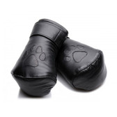 Strict Leather Padded Adjustable Leather Lace-Up Puppy Mitts