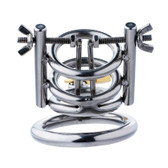 Master Series The Meat Cleaver Deluxe Stainless Steel Urethral Spreader CBT Chastity Cage