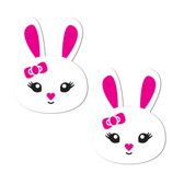 Pastease White & Pink Bunny Rabbit Nipple Pasties