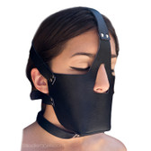 Buy Vegan Bondage Locking Head Harness with Muzzle - StockRoom Vondage