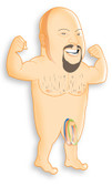 Bachelorette Party Favors Midget Man Inflatable Ring Toss