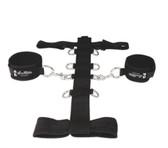 Lux Fetish 3-Piece Adjustable Neck & Wrist Restraint Set