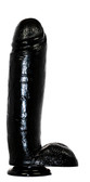 Blush Novelties Hard Steel 10.5 inch Realistic Suction Cup Dildo Black