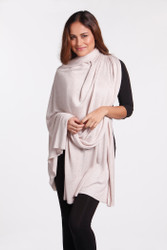 Bamboo Body Bamboo Cashmere Wool Travel Wrap - Oatmeal