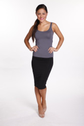 Bamboo Body Bamboo Tube Skirt - Black