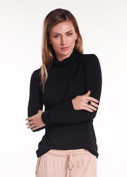 Bamboo Body Bamboo Turtle Neck - Black