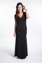 Bamboo Body Long Bamboo Skirt - Black