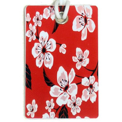 Personalised Luggage Tag - Red Polka