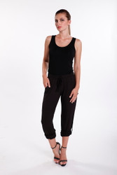 Bamboo Body Pocket Pants - Black