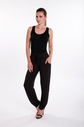 Bamboo Body Pocket Pants - Black