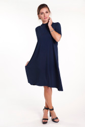 Bamboo Body Taylor Top - Navy