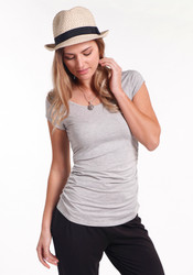 Bamboo Body The Ruched Bamboo Tee - Black