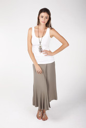 Bamboo Body Vest Top - Dark Brown