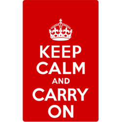 Personalised Luggage Tag - Keep Calm and Carry On - Red