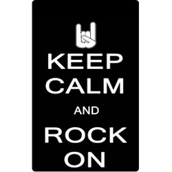 Personalised Luggage Tag - Keep Calm and Rock On
