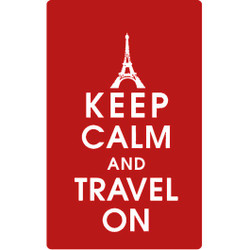 Personalised Luggage Tag - Keep Calm and Travel On - Red