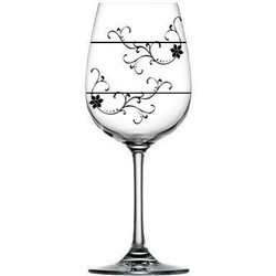 For Love of Wine Glass: Divine Floral Vine