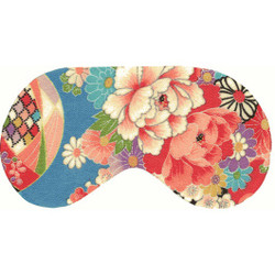 Chris Notti Silk Sleep Mask: Kimono Turquoise with Earplugs