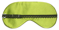 Chris Notti Silk Sleep Mask: Green Serpentine with Earplugs