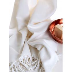 Hammam Traditional Turkish Towel -  Unstriped White