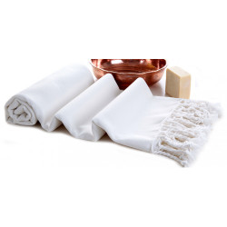 Hammam Traditional Turkish Towel -  Unstriped White