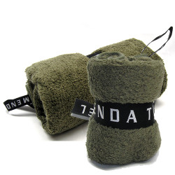 Menda Ultimate Travel and Sports Towel Set: Khaki Green