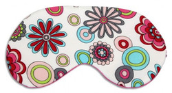 Chris Notti Silk Sleep Mask: Floral Rose with Earplugs