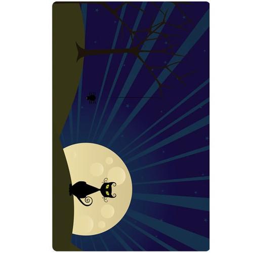 Personalised Luggage Tag - Full Moon Night