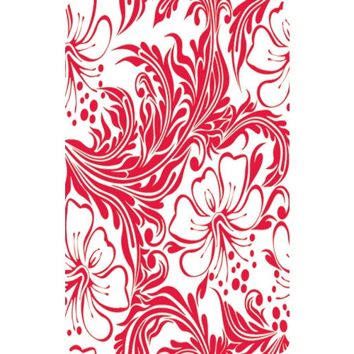Personalised Luggage Tag - Red Flowers
