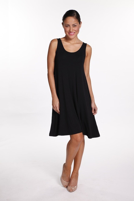 Bamboo Body Swing Dress - Black