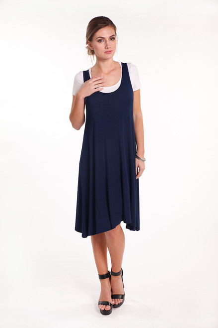 Bamboo Body Swing Dress - Navy