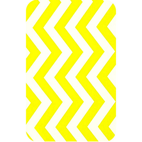 Personalised Luggage Tag - Chevron Yellow and White