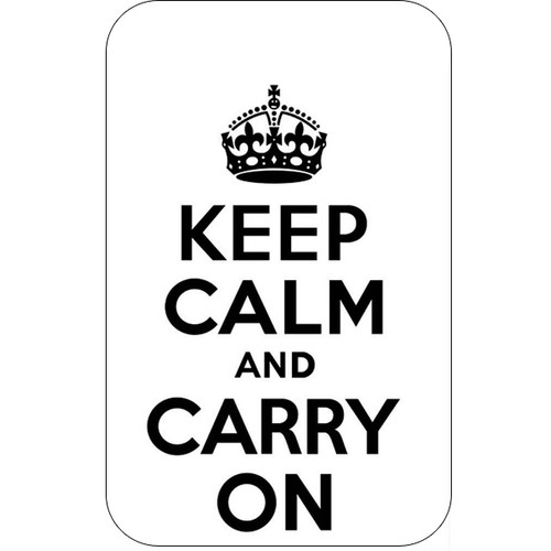Personalised Luggage Tag - Keep Calm and Carry On - White