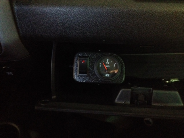 Gauge Pod in Glove Box