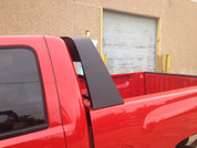 Aluminum Headache Rack shown in Black Wrinkle Powdercoat. 1-800-773-3047.
