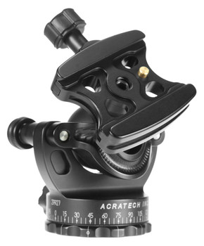 All GV2 ball heads have the unique ability to function as a gimbal head with lenses under 400mm. Shown with the standard quick release clamp.