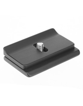 Fuji X-T1 w/ battery grip Arca style camera plate. The custom fit prevents twist.
