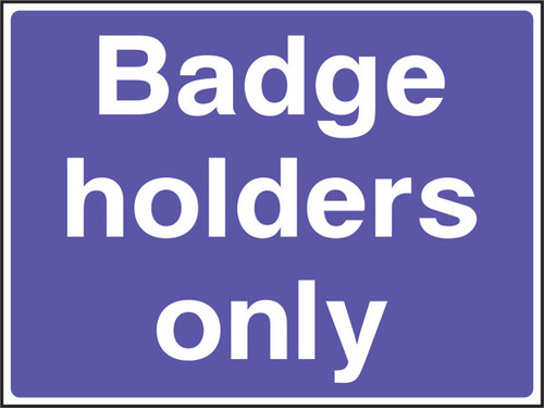 Badge holders only